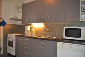 A kitchen or kitchenette at Apartmány Holiday Pec