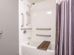 A bathroom at La Quinta by Wyndham Portland