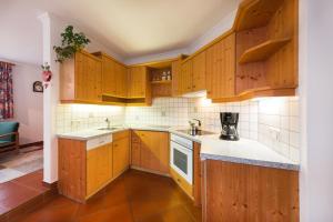 A kitchen or kitchenette at Ferienwohnung Webhofer