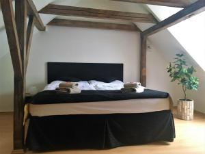 A bed or beds in a room at U Zeleného jalovce