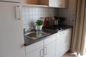 Küche/Küchenzeile in der Unterkunft s' Berghäusl Randeck