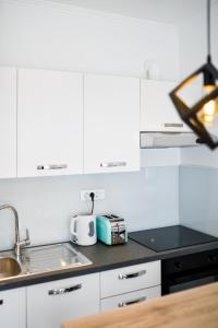 A kitchen or kitchenette at Serenity Apartment