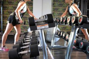 The fitness center and/or fitness facilities at Hyatt Place Frankfurt Airport