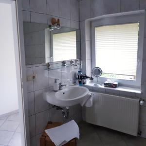 Ein Badezimmer in der Unterkunft Urlaubspension 'Hohes Rott' und Apartmenthaus