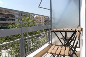A balcony or terrace at Kalamata Art Hotel