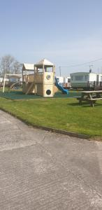 Children's play area at Redford Caravan Park