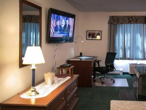 A television and/or entertainment center at Casco Bay Inn