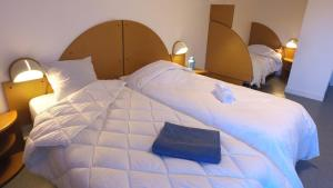 A bed or beds in a room at VVF Villages « Les Monts du Cantal » Le Grand Lioran