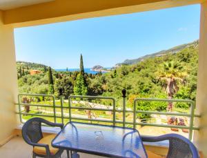 A balcony or terrace at Avra Sunset Sea View Liapades