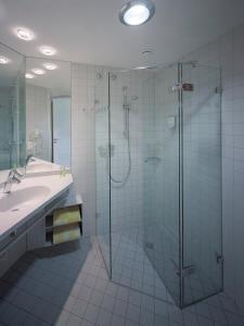 Ein Badezimmer in der Unterkunft Akademiehotel Dresden