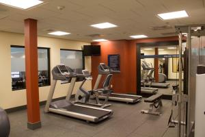 The fitness center and/or fitness facilities at Hampton Inn & Suites Harrisburg