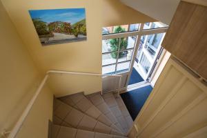 Ein Balkon oder eine Terrasse in der Unterkunft Land-gut-Hotel BurgBlick
