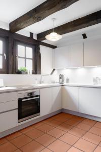 Küche/Küchenzeile in der Unterkunft Moderne trifft auf Fachwerk