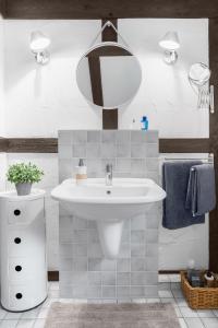 Ein Badezimmer in der Unterkunft Moderne trifft auf Fachwerk