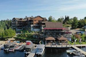 A bird's-eye view of Le Viking Resort & Marina
