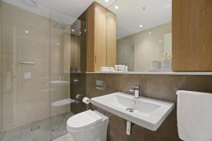 A bathroom at Walking to Darling Harbour, ICC,QVB, Shopping Mall