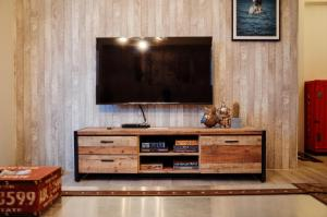 A television and/or entertainment center at Little town Inn