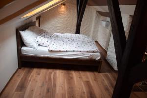 Postel nebo postele na pokoji v ubytování Sac Mau