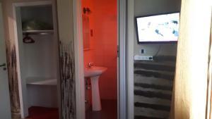 A bathroom at Hotel Florencia