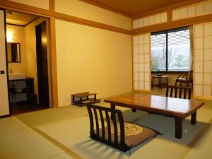 Dining area in the ryokan