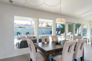 A restaurant or other place to eat at Upscale Palm Springs Corner Lot Home