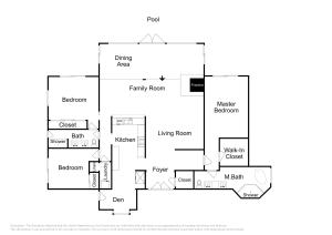 The floor plan of Upscale Palm Springs Corner Lot Home