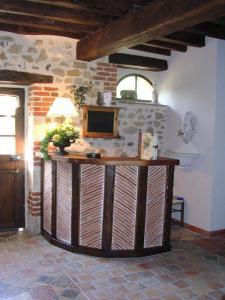 The lobby or reception area at La Petite Ferme