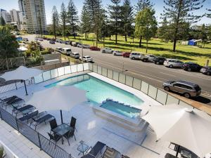 A view of the pool at Private Apartment - Central Broadbeach or nearby