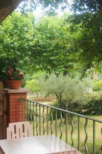 Balcon ou terrasse dans l'établissement Hôtel Restaurant Le Pradinas