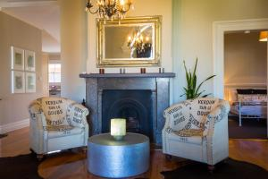 A seating area at Camellia Cottage