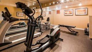 The fitness center and/or fitness facilities at Best Western Plus King's Inn and Suites