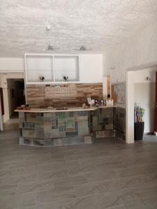A kitchen or kitchenette at Hotel Neos Matala