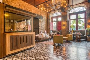 The lobby or reception area at Selina Lapa Rio de Janeiro