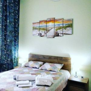 Postel nebo postele na pokoji v ubytování CENTRAL Marienbad Apartaments