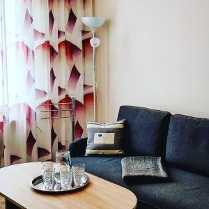 Posezení v ubytování CENTRAL Marienbad Apartaments