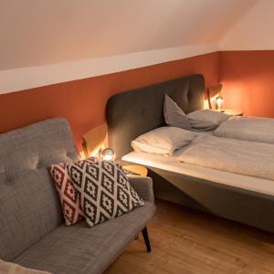 Ein Bett oder Betten in einem Zimmer der Unterkunft Lackenbauer