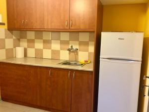 A kitchen or kitchenette at Apartment Kanakis 10 the airport