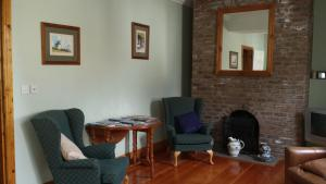 A seating area at Quay House