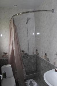 A bathroom at Giorgi's Homestay