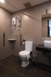 A bathroom at Hotel Waterfall