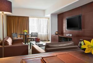 A seating area at Libertador Hotel