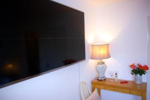 A television and/or entertainment center at Ladysmith House