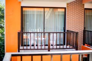 A balcony or terrace at The Spa Garden