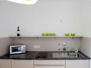 Küche/Küchenzeile in der Unterkunft Hotel Karolinger Hof