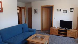 Ein Sitzbereich in der Unterkunft Gästehaus Siebert