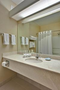 A bathroom at Holiday Inn Express Hotel and Suites - Henderson, an IHG hotel