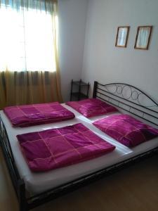 Ein Bett oder Betten in einem Zimmer der Unterkunft Ferienwohnungen Zentrum Nord