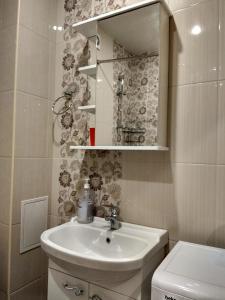 A bathroom at Apartment on Divnaia 1