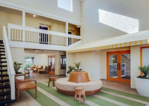 The lobby or reception area at Wild Palms Hotel, a Joie de Vivre Hotel