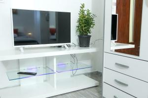A television and/or entertainment centre at Apartment Martedić